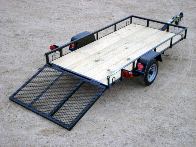Mini-Single Axle Utility Trailer