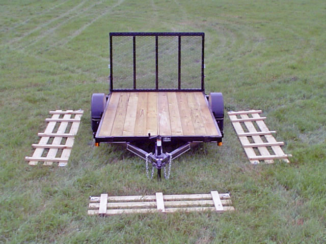 Single Axle Flatbed Utility Trailer Johnson Trailer Co