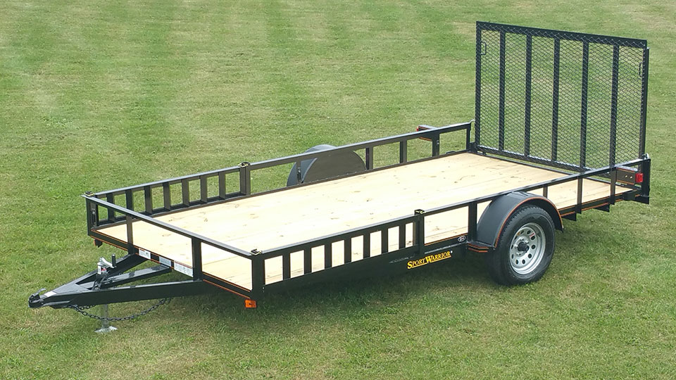 Single Axle Utility Trailer w/ ATV Pkg - Johnson Trailer Co