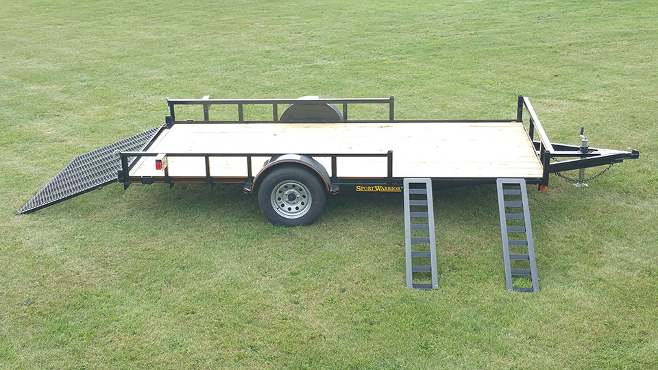 Single Axle Utility Trailer W   Atv Pkg