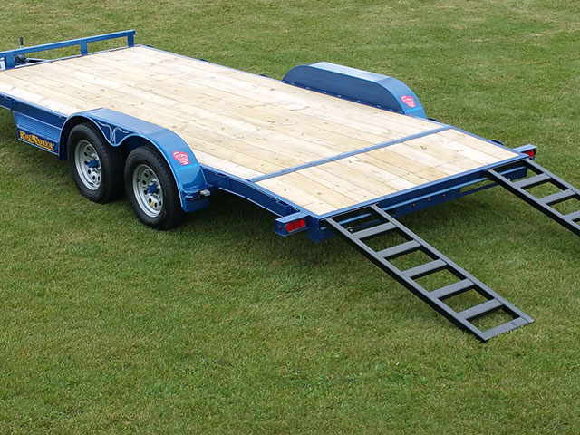 Wood Floor Car Hauler Trailer Johnson Trailer Co
