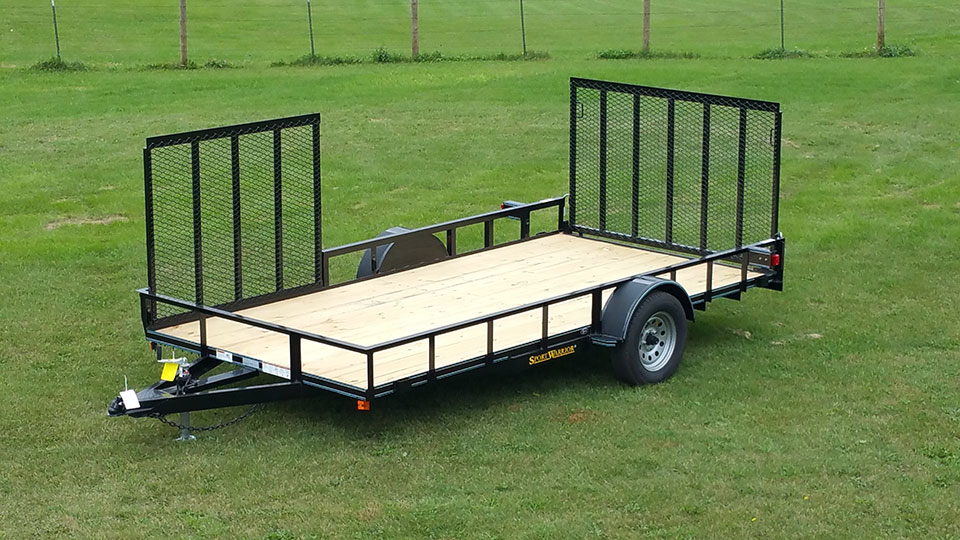 Utility Trailer with Side Ramp